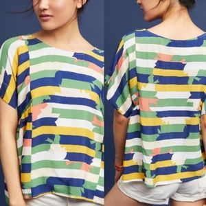 Anthropologie Tops - Maeve milla abstract stripe print top